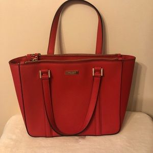 Bright Red Kate Spade over the shoulder bag